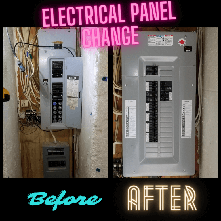 Electrical panel change before and after